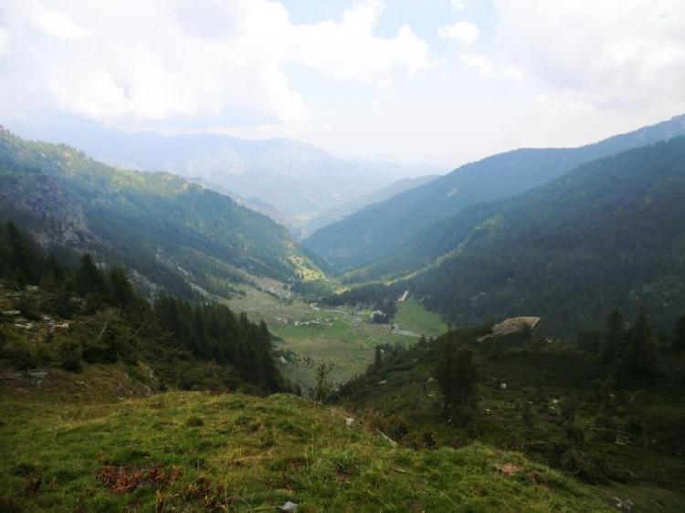Panorama sulla valle dei Carbonieri